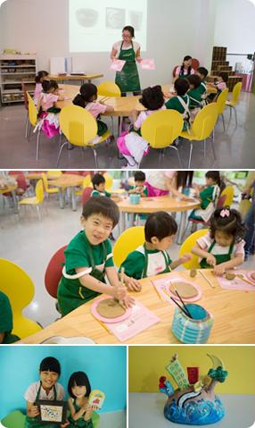 能够同步进行观赏、讨论、活动,也是儿童与家人都可以一同参加的开放性的教育营地。 这是一项与陶瓷展览关联的活动,儿童欣赏并讨论著名陶瓷艺术家们多样的作品,并用陶瓷作品来表达自己所感觉到的。 参加儿童培训营的小朋友通过触摸泥土,激发触感,并接触多样颜色来培育丰富的创造力。