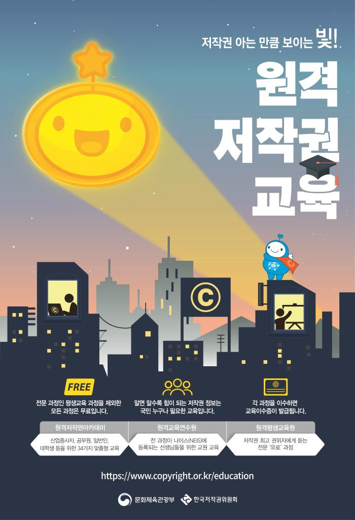2019년 10월한국저작권위원회 저작권 원격교육안내`