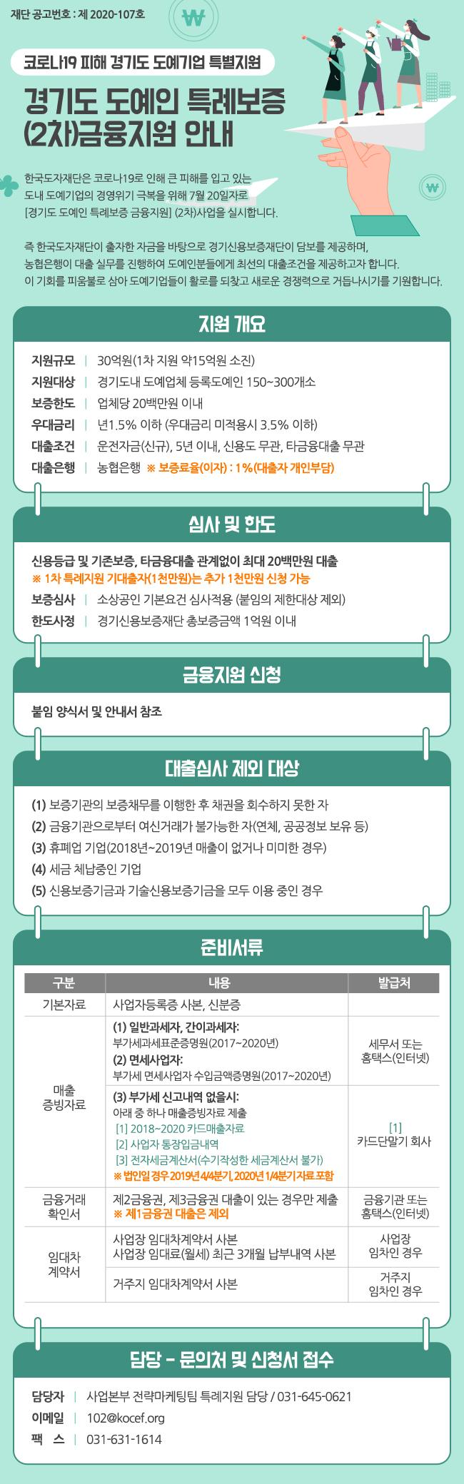 경기도 도예인 특례보증 (2차)금융지원 안내